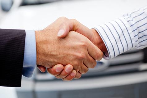 Closing deal on a car